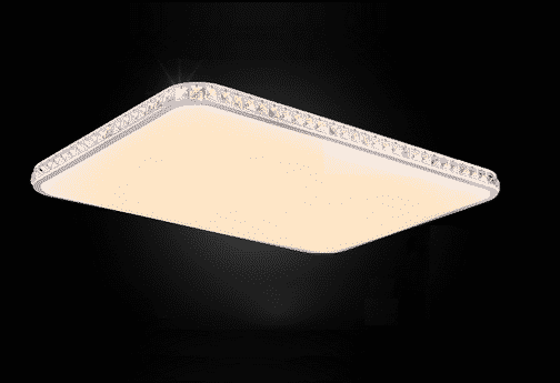 Nowoczesny plafon LED z pilotem barwa ciepła zimna obojętna ściemniacz kryształowy biały duży prostokątny